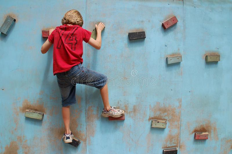 Climbing Wall Exercise royalty free stock photos