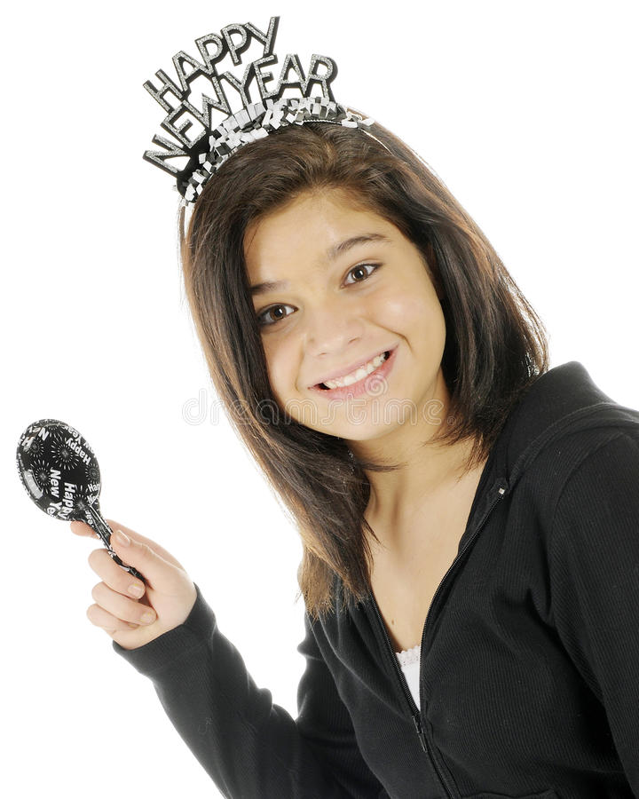 Download Young Teen's New Year stock image. Image of noisemaker - 22339117