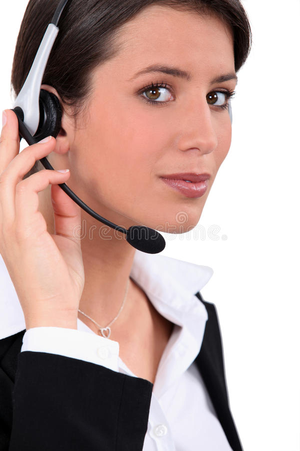 Download Young telephone operator stock image. Image of channel - 24216249