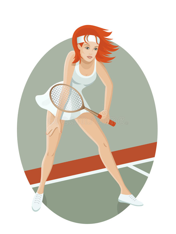 Download Young tennis player stock vector. Illustration of tennis - 19265949