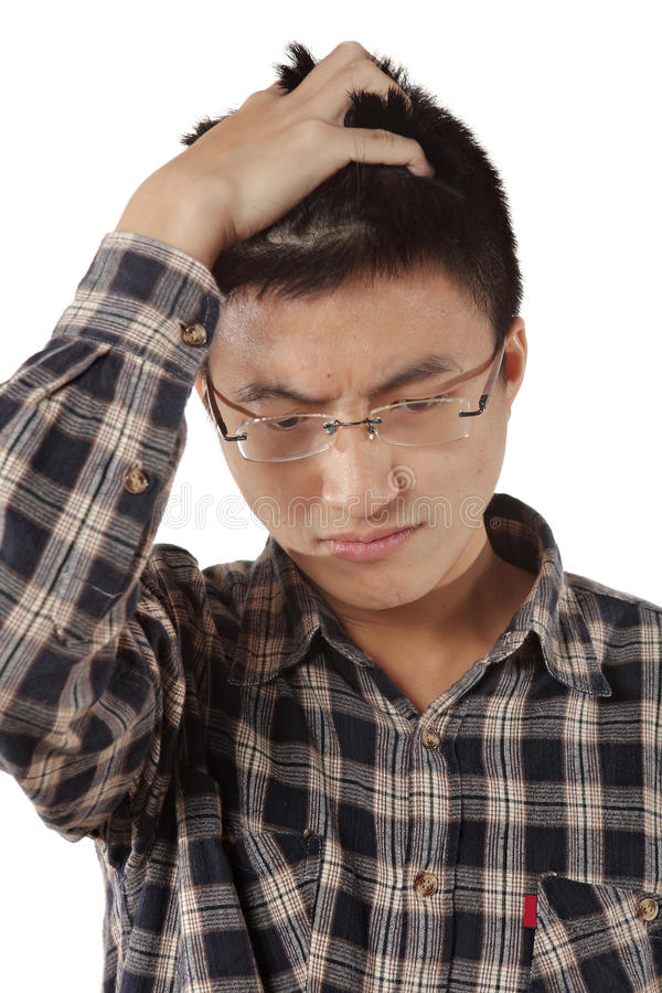 Download Young thinking man stock image. Image of face, desperate - 23812983