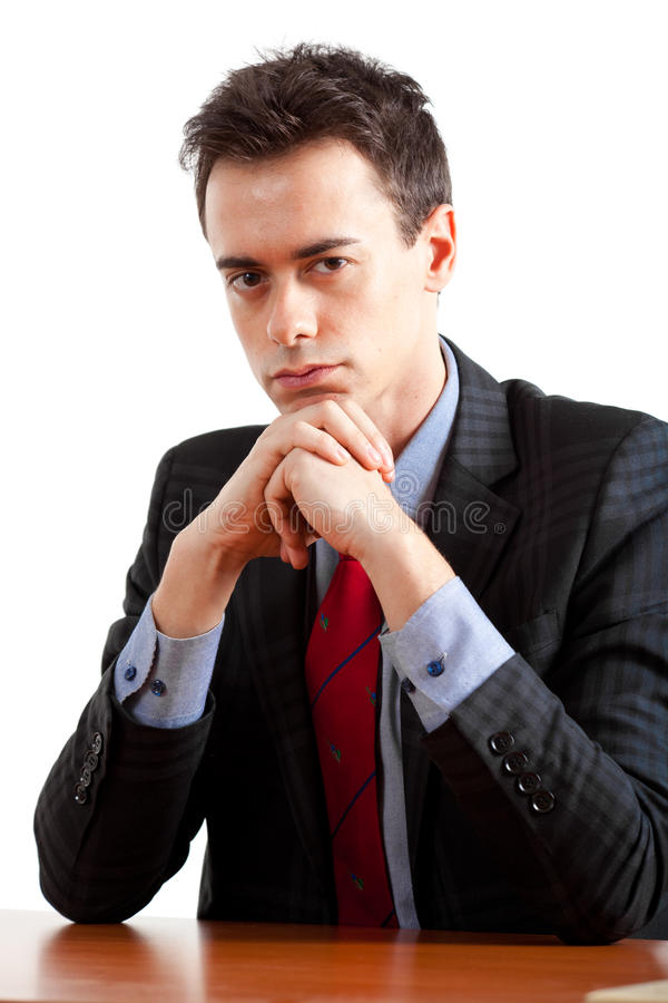 Young Thoughtful Businessman Royalty Free Stock Photography