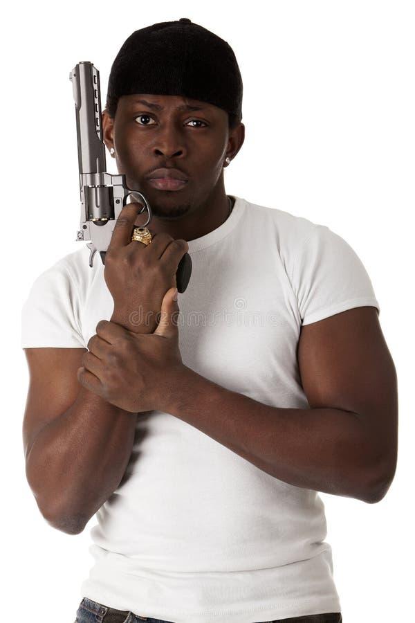 Young Thug With A Gun Stock Photos
