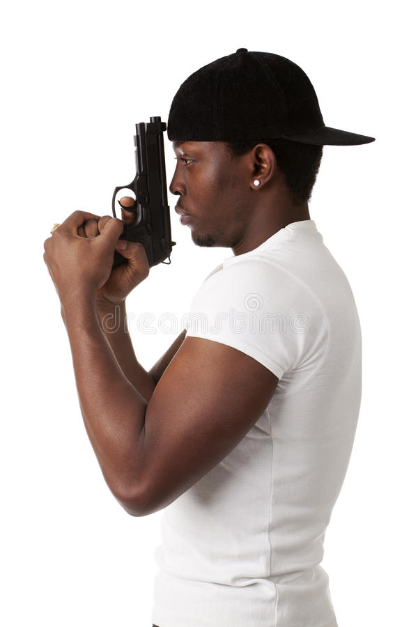 Download Young Thug With A Gun Royalty Free Stock Photo - Image: 24929175