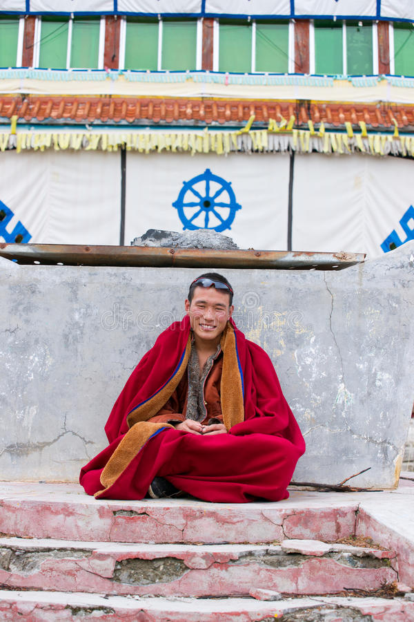 Download Young tibetan monk editorial image. Image of adults, person - 21601260