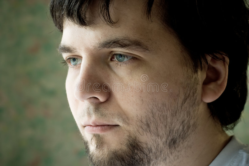 Young tired man stock images