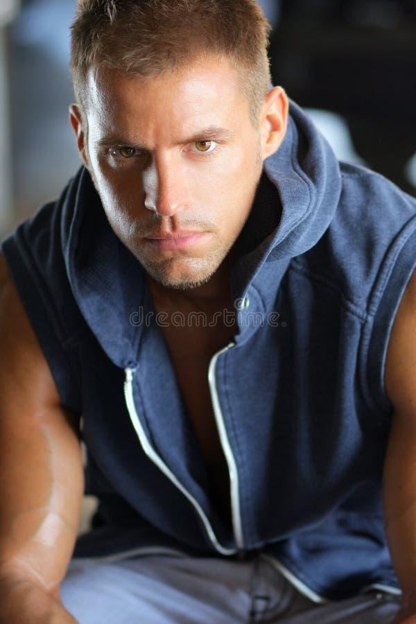 Young tough guy stock photo