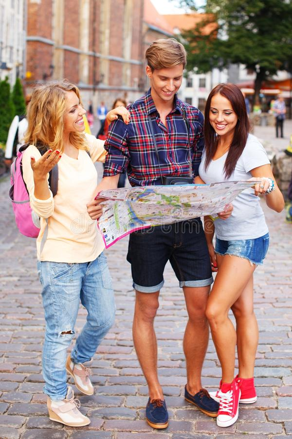 Download Young tourists stock image. Image of friends, directions - 34644567
