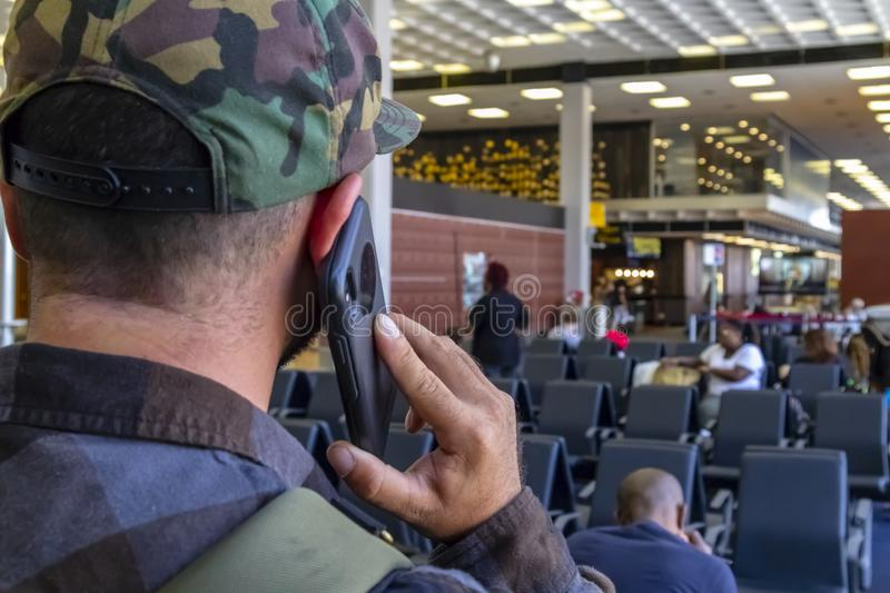 Airport Traveler Calls Law Enforcement After Seeing Terrorist Ac stock image