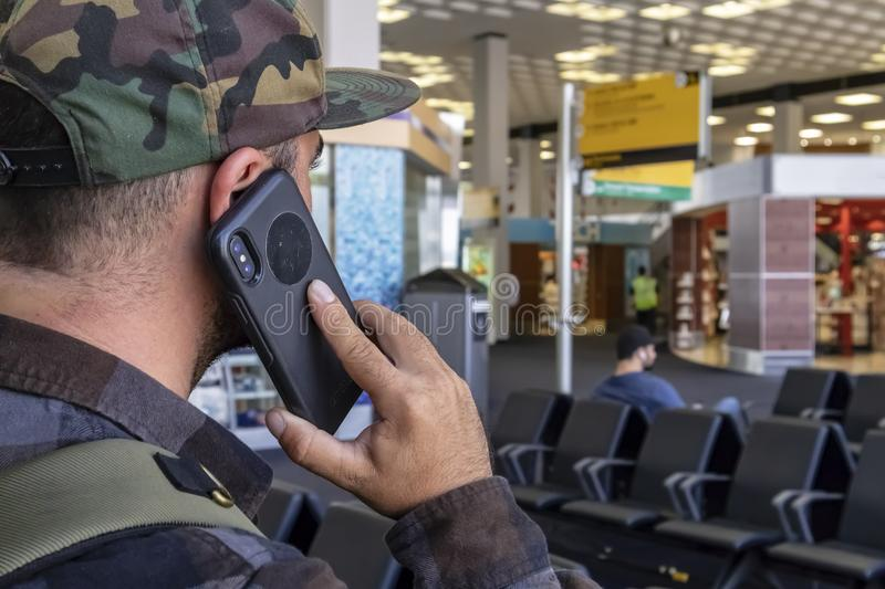 Airport Traveler Calls Law Enforcement After Seeing Terrorist Ac royalty free stock images