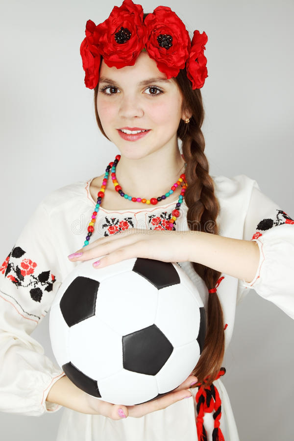 Download Young Ukrainian Woman With  Ball Stock Photo - Image: 25225994