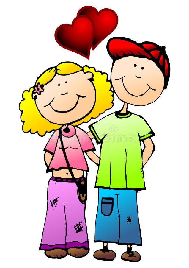 Young Valentines Couple Stock Photography