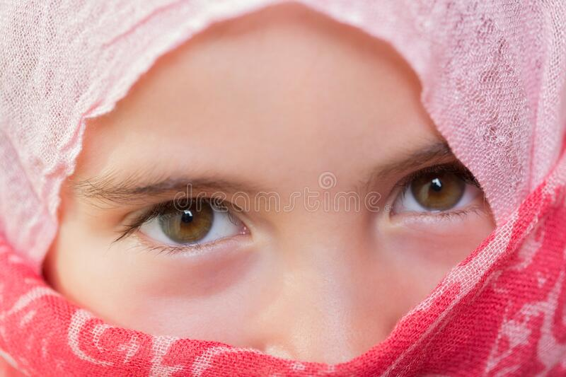Young veiled girl royalty free stock images