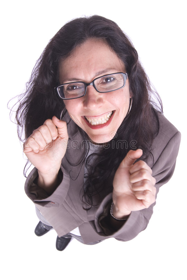 Download Young Very Happy Smiling Businesswoman Gesturing Stock Photo - Image: 9209990