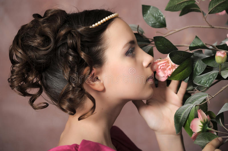 Young Victorian girl royalty free stock image