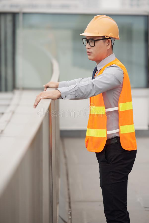 Young contractor stock images