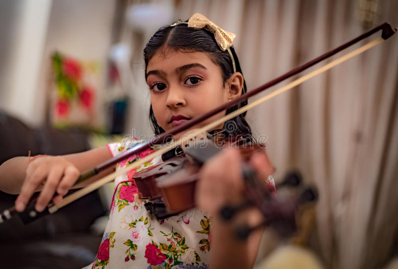 Young Violinist royalty free stock images