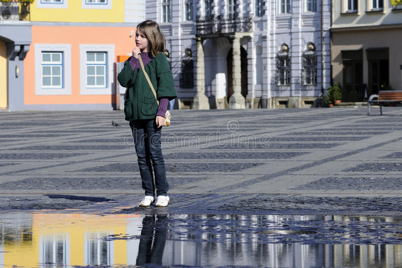 Young Visitor Admiring Museums In Central Square Royalty Free Stock Photo