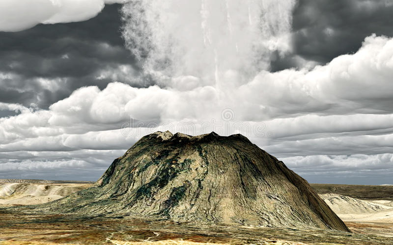 Download Young volcano stock illustration. Illustration of gulf - 13872229
