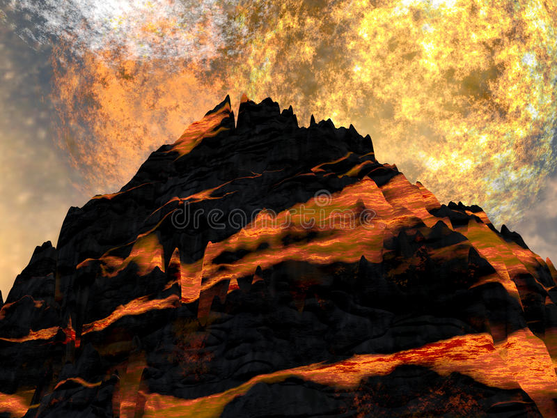 Download Young volcano stock illustration. Image of catastrophe - 13958909