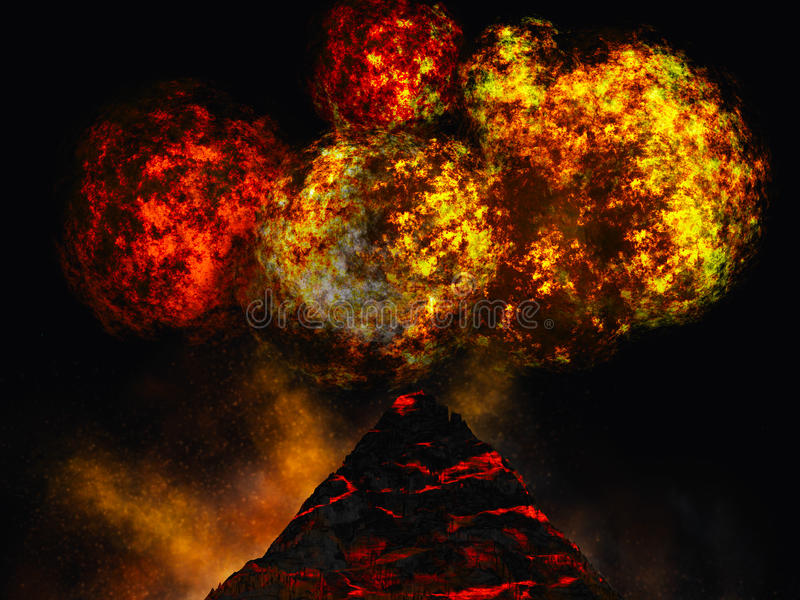 Download Young volcano being born stock illustration. Image of landscape - 13141224