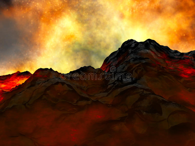 Download Young volcano being born stock illustration. Illustration of gulf - 13141745