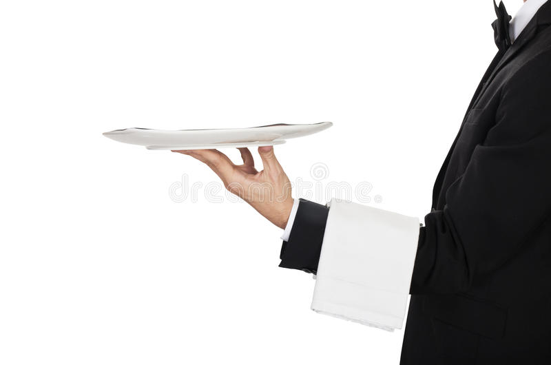 Young waiter royalty free stock photos