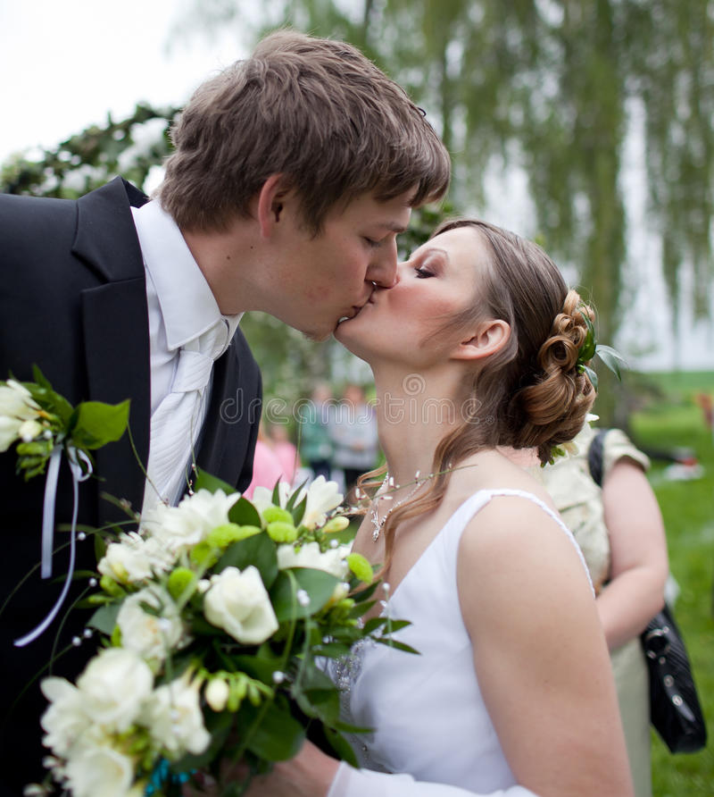 Download Young wedding couple stock photo. Image of caucasian - 15432472