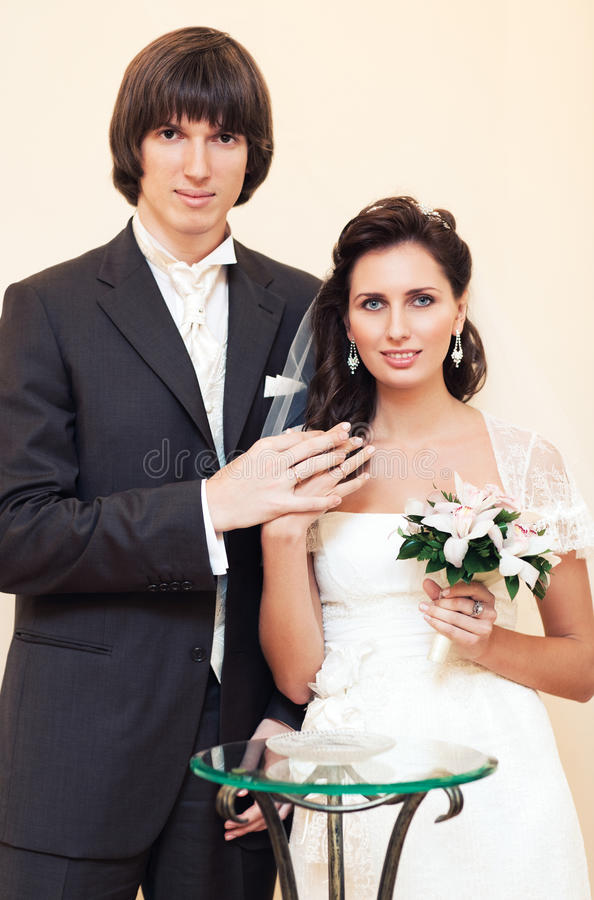 Download Young wedding couple stock photo. Image of hands, wedding - 16082942