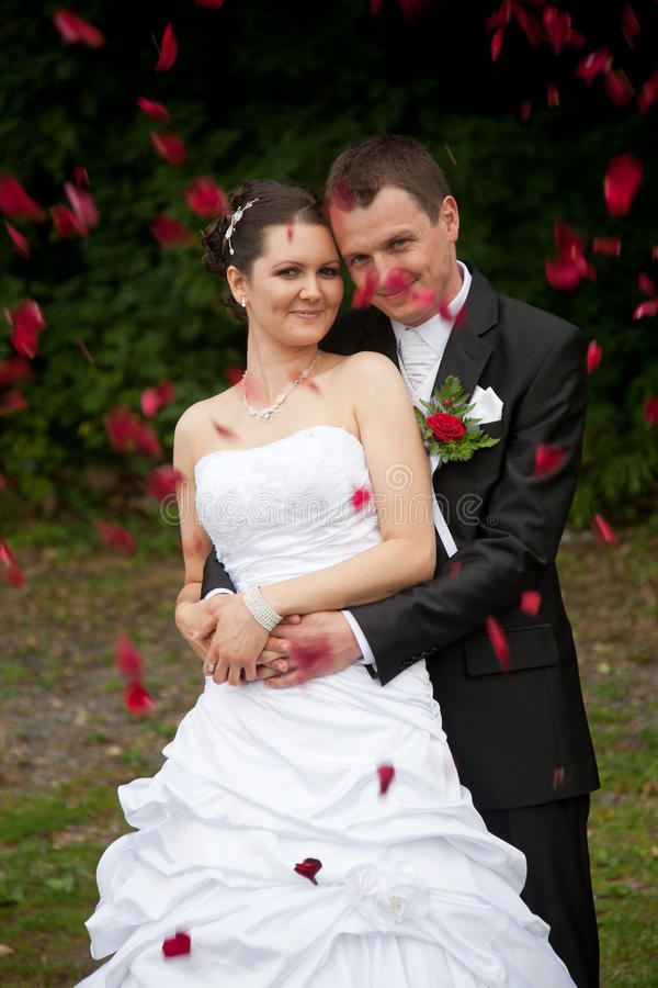 Download Young wedding couple stock photo. Image of couple, bouquet - 24149698