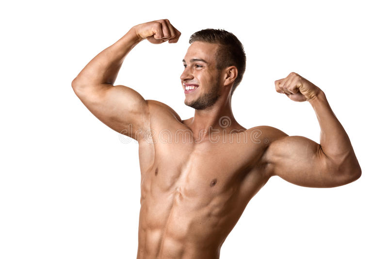 Young well trained Athlete royalty free stock photo