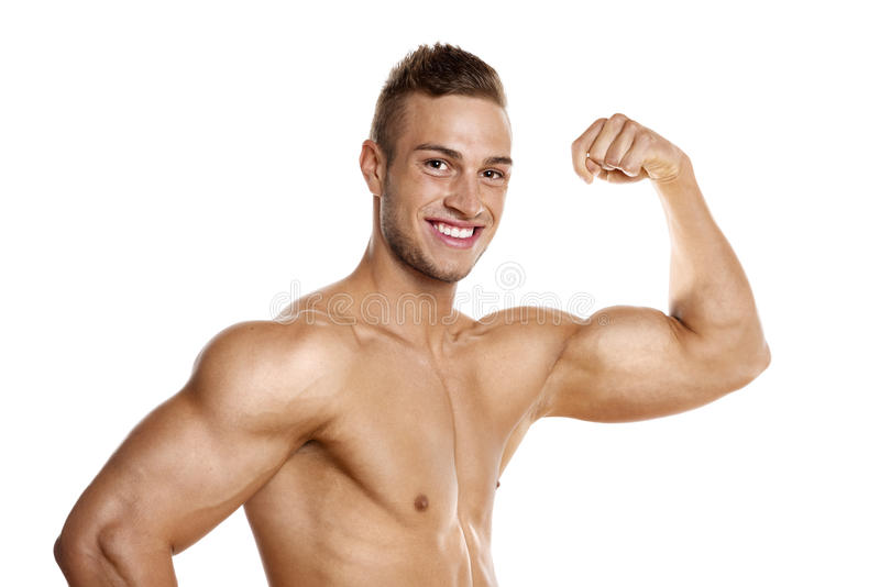 Young well trained Athlete stock images