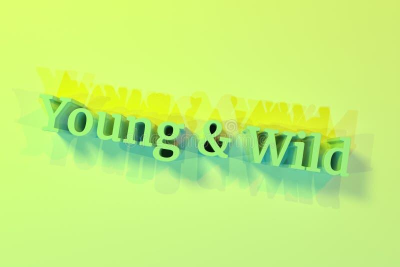 Wild Typography Stock Illustrations 11940 Wild Typography