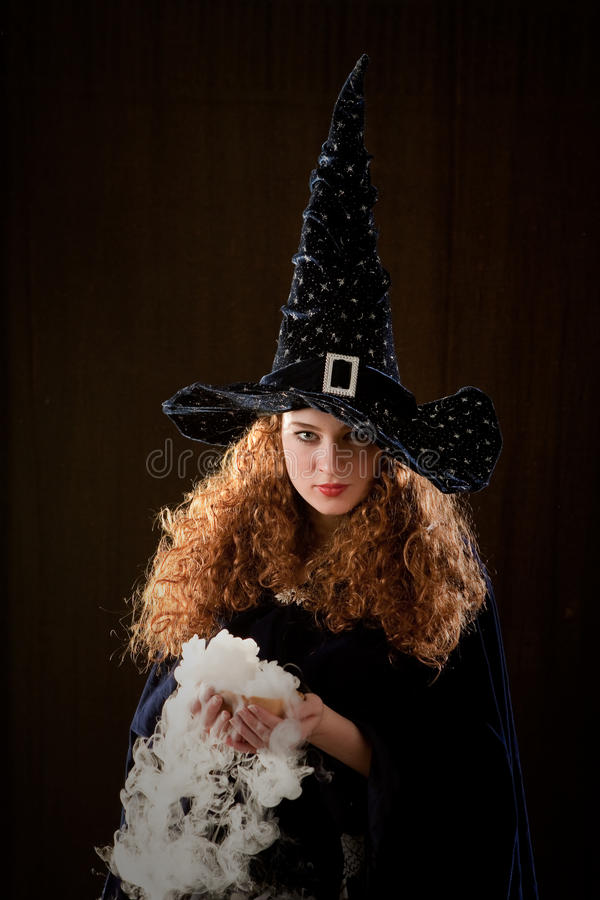 Download Young witch stock photo. Image of sorceress, woman, conjure - 18043906