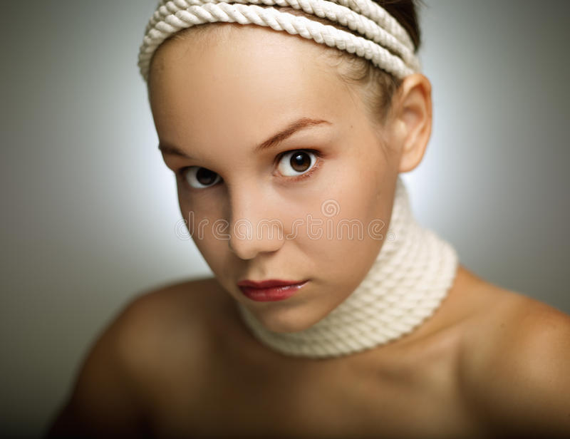 Young woman. Pretty young woman portrait ( shallow depth of field royalty free stock photos
