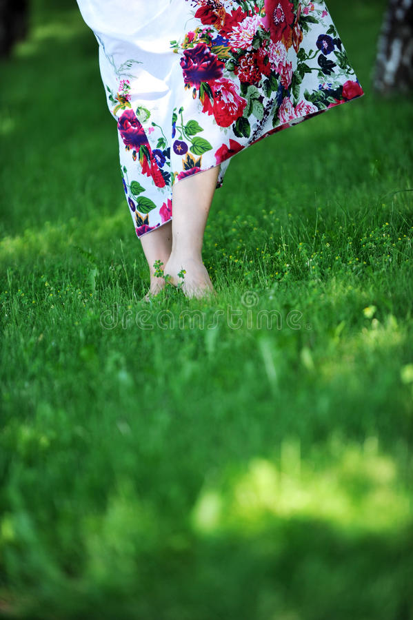 Download Young  woman stock photo. Image of birch, feet, ecology - 20577164