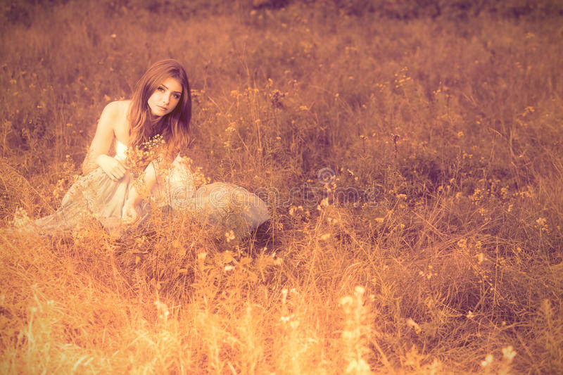 Download Young woman stock photo. Image of hippy, country, ethnic - 21122484