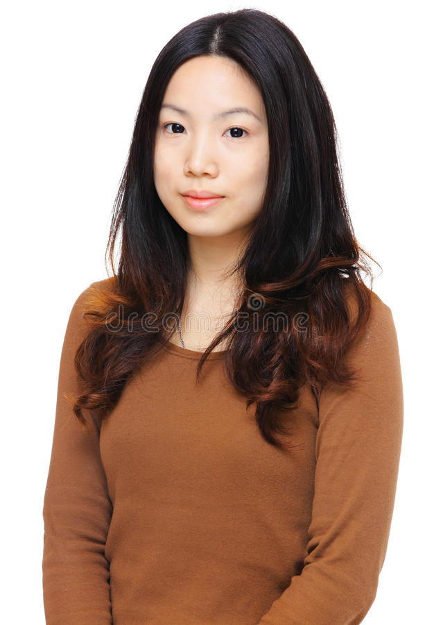 Young woman. Over white background stock photos