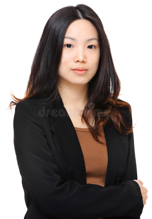 Young woman. Over white background royalty free stock photo