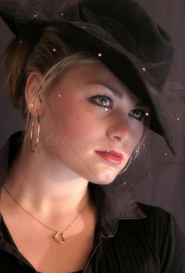 Young Woman 40's Style royalty free stock image