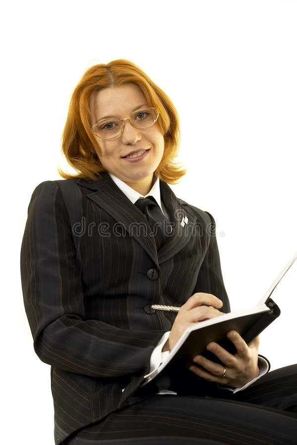 Download Young woman stock photo. Image of success, notebook, glass - 460262