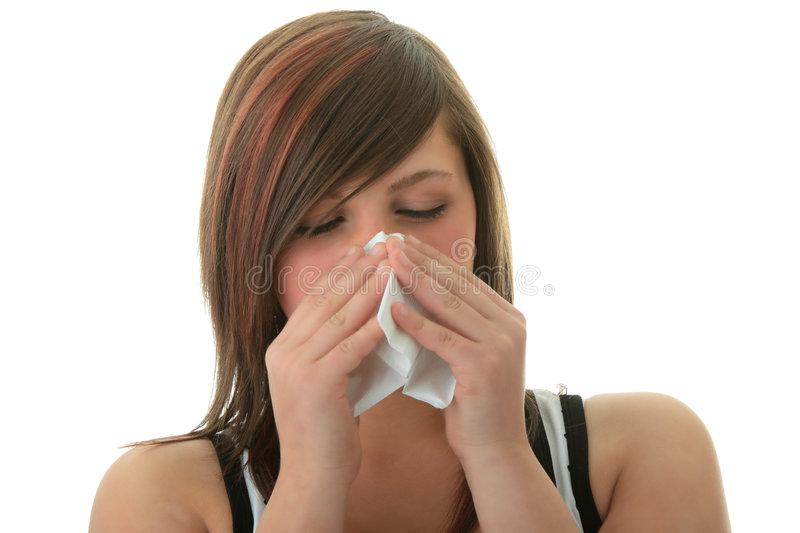 Download Young Woman With Allergy Or Cold Stock Photo - Image of influenza, hand: 9283426