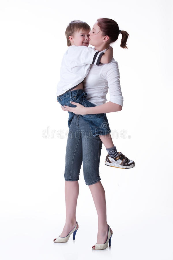 Free Young Woman And Little Boy Royalty Free Stock Photography - 12133397