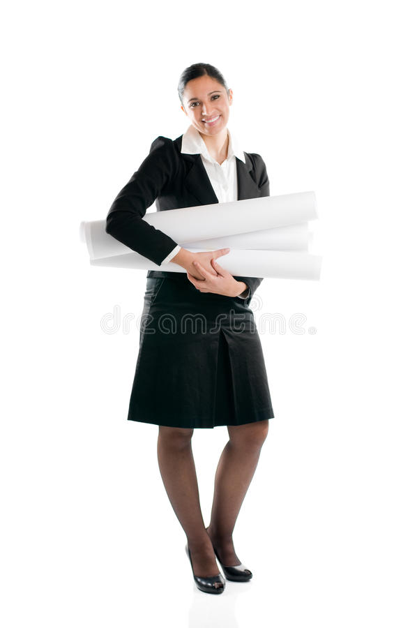 Download Young Woman Architect Full Length Stock Photo - Image: 11900878