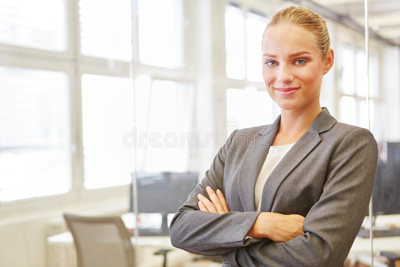 Young woman as self confident business consultant stock image