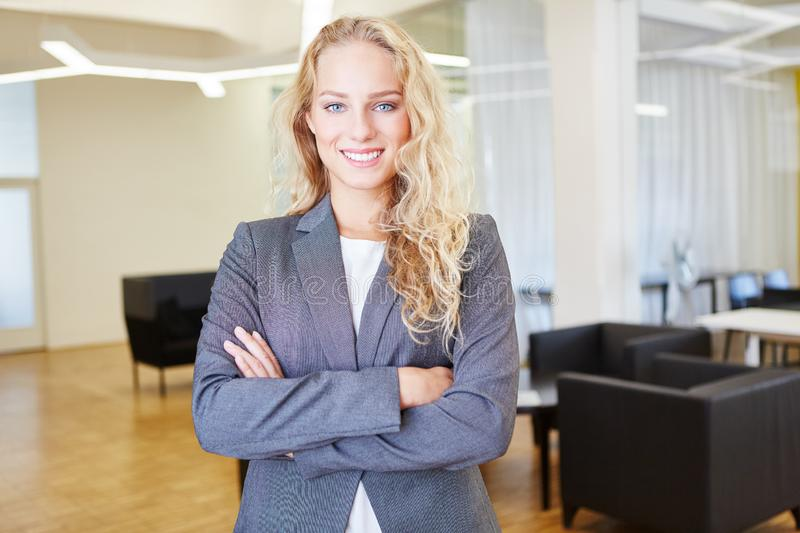 Young woman as successful businesswoman royalty free stock photos
