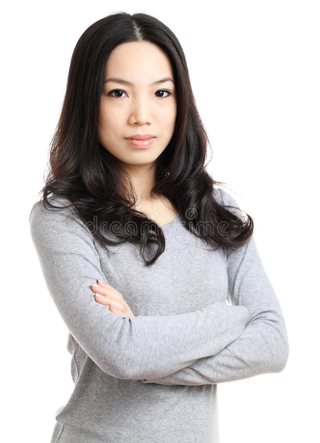 Young woman. Asian Young woman with white background stock photos