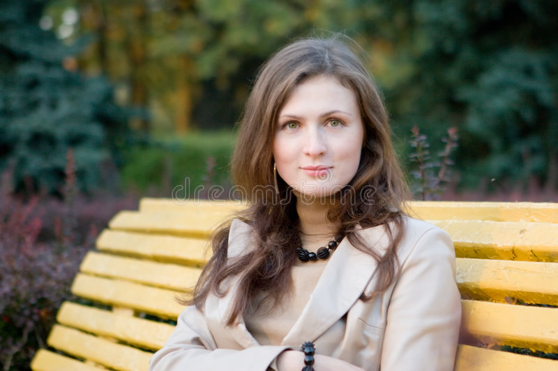 Download Young Woman In The Autumn Park Royalty Free Stock Photo - Image: 1411465