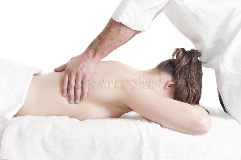 Download Young Woman Back Massage Spa Stock Photo - Image of lying, beauty: 24345300