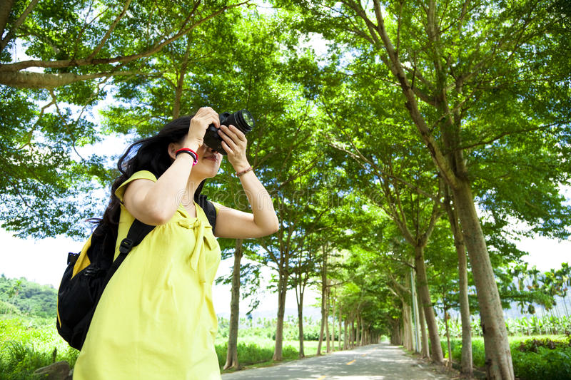 Download Young Woman With Backpack Stock Image - Image: 26752311